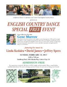 Special Free Event with Gene Murrow flyer